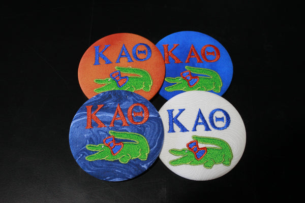 Kappa Alpha Theta Gator Game Day Embroidered Button