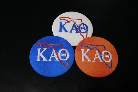 Kappa Alpha Theta Florida Outline Game Day Button