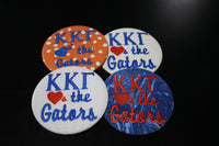 "Kappa Kappa Gamma ""Hearts the ___"" Game Day Embroidered Button"