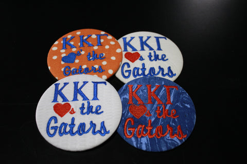 "Kappa Kappa Gamma ""Hearts the ___"" Game Day Button"
