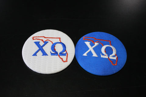 Chi Omega Florida Outline Game Day Button