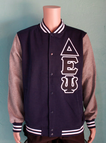 Delta Epsilon Psi Fleece Letterman Jacket