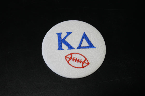Kappa Delta Football Embroidered Button