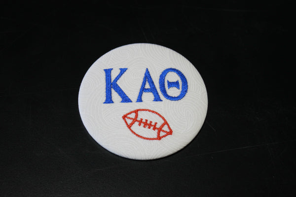 Kappa Alpha Theta Football Embroidered Button