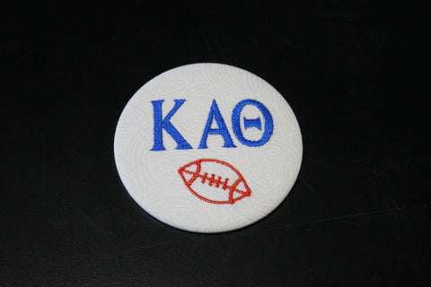 Kappa Alpha Theta Football Button