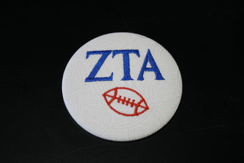 Zeta Tau Alpha Football Button