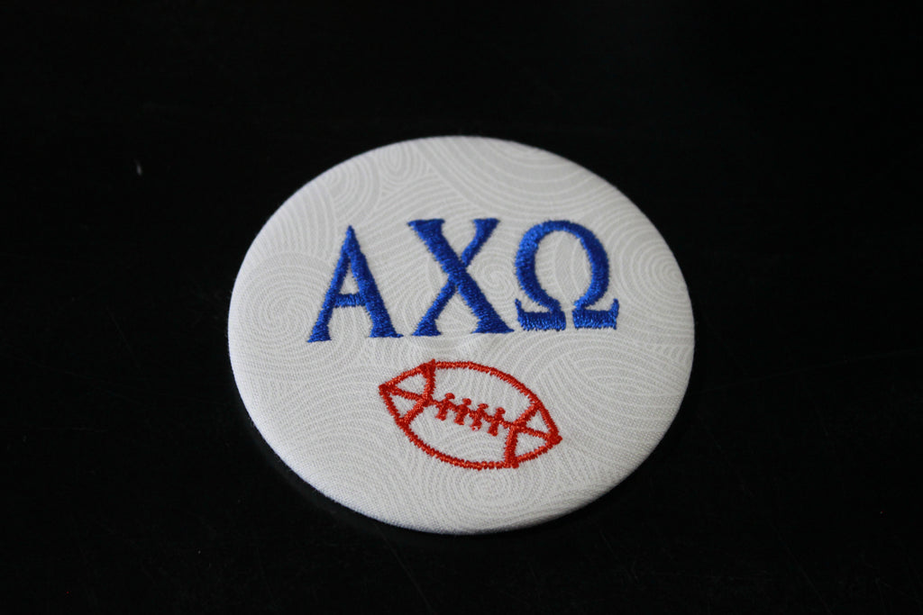 Alpha Chi Omega Football Button