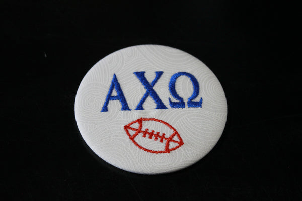 Alpha Chi Omega Football Embroidered Button