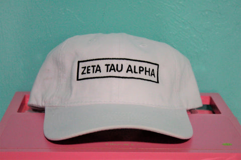 Zeta Tau Alpha Rectangle Hat