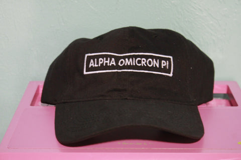 Alpha Omicron Pi Rectangle Hat