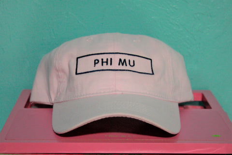 Phi Mu Rectangle Hat