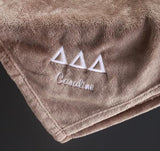 Sorority Core Fleece Blanket With Embroidery