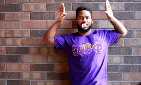 Omega Psi Phi Embroidered Omega Man Tee