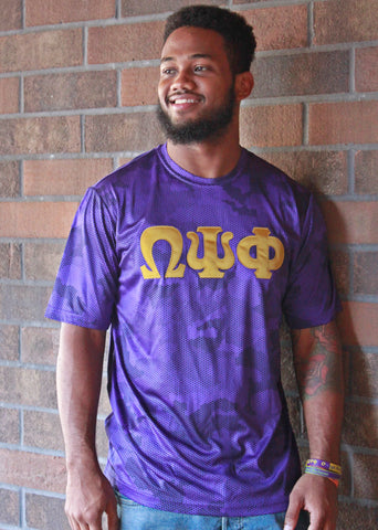 Omega Psi Phi Digi Camo Purple Dri fit