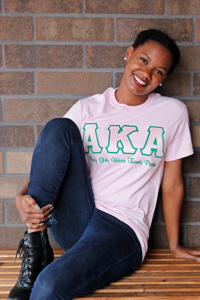 Alpha Kappa Alpha Pretty Girls Wear Twenty Pearls Tee