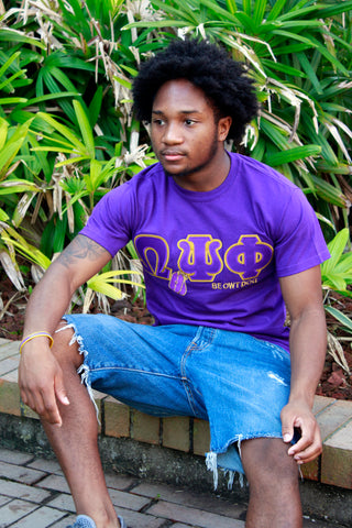 Omega Psi Phi Embroidered DT Tee