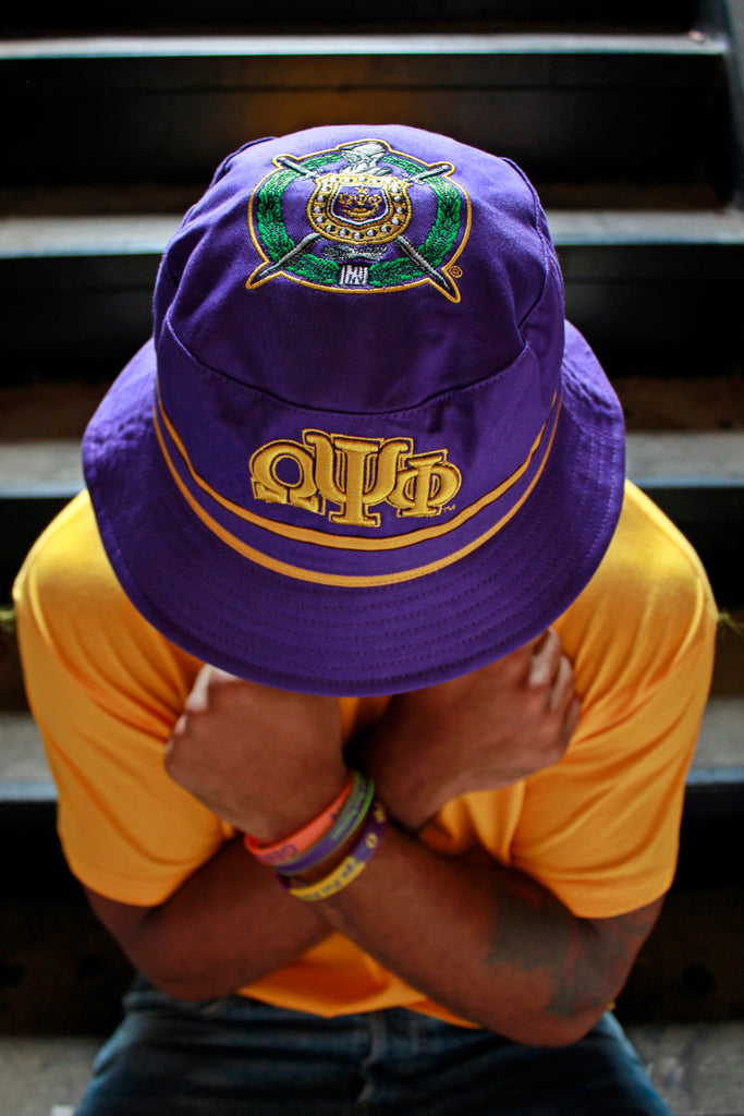 Omega Psi Phi Specialty Bucket Hat – Greek Divine and More 7a7b31b1a06