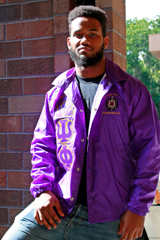 Omega Psi Phi Crossing Jacket W/Crest