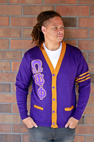 Omega Psi Phi Two Tone Cardigan