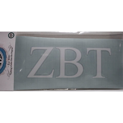 Zeta Beta Tau Vinyl Decal