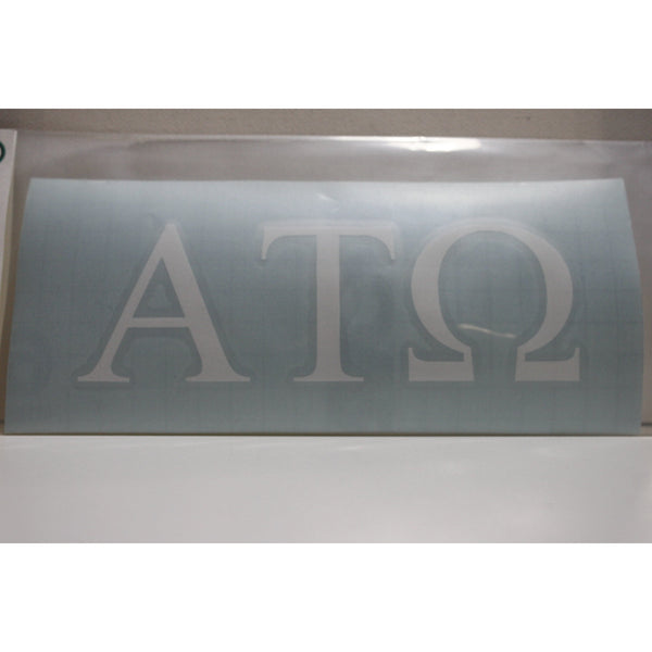 Alpha Tau Omega Block Decal