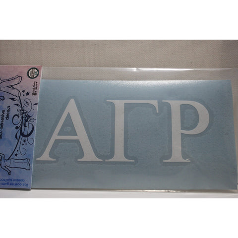 Alpha Gamma Rho Vinyl Decal