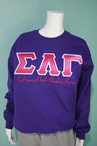 Sigma Lambda Gamma Culture is Pride Crewneck