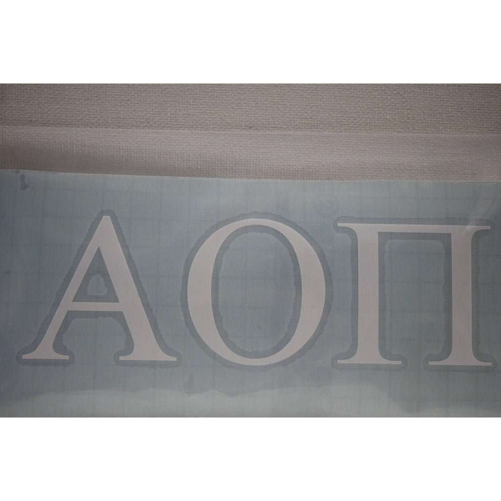 Alpha Omicron Pi Vinyl Decal
