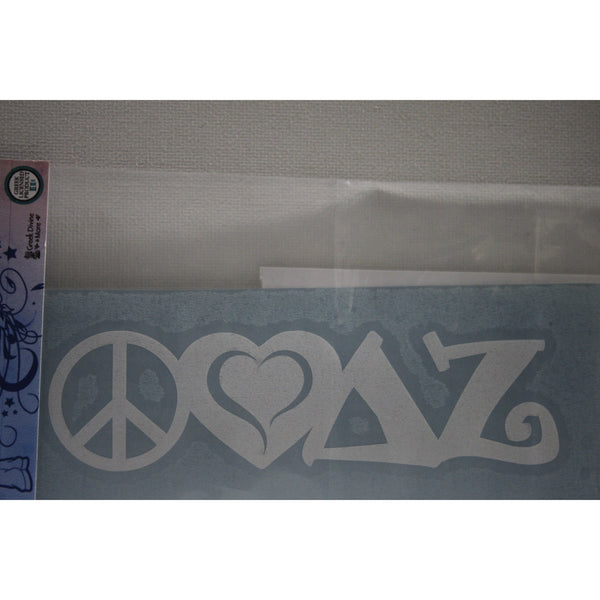 Delta Zeta Peace Love Decal