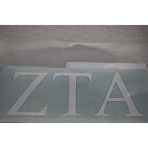 Zeta Tau Alpha Vinyl Decal