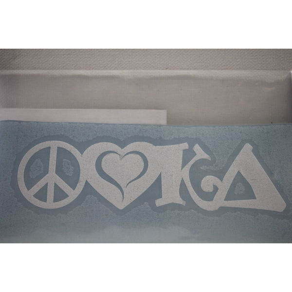 Peace, Love, Kappa Delta Decal