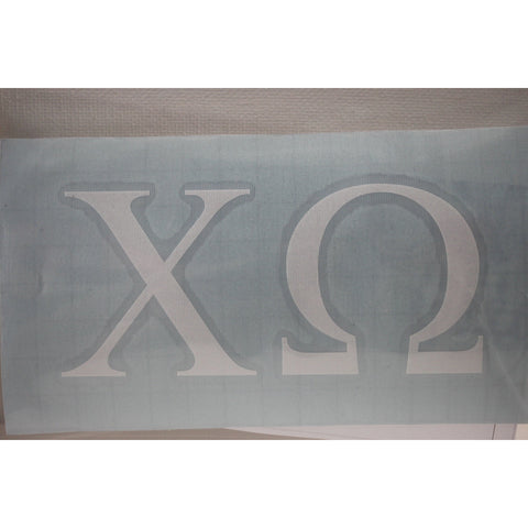 Chi Omega Car Decal