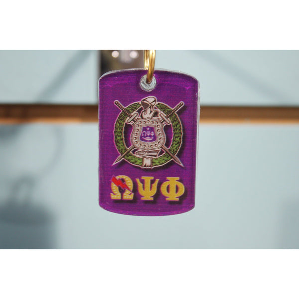 Omega Psi Phi Two-Sided Acrylic Keychain
