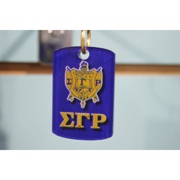 Sigma Gamma Rho Two-Sided Acrylic Keychain