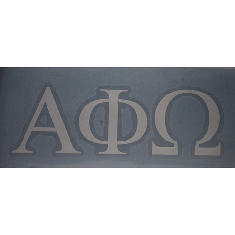 Alpha Phi Omega Block Decal