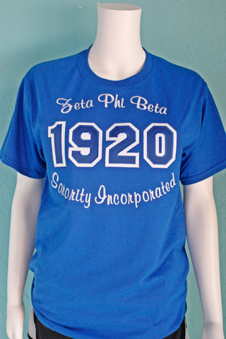 Zeta Phi Beta Year w/ Embroidery Tee