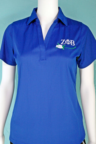 Zeta Phi Beta V-neck Polo