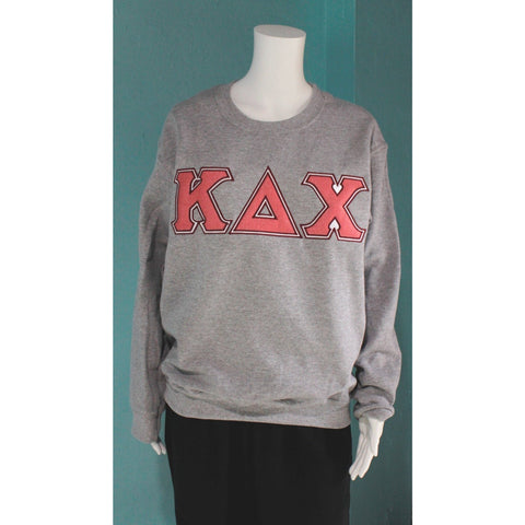 Kappa Delta Chi Sparkly Lettered Crewneck