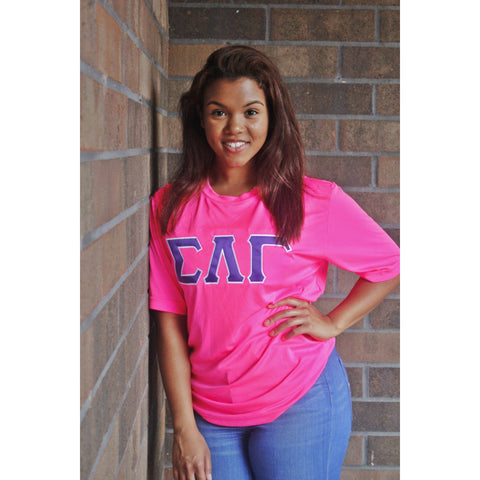 Sigma Lambda Gamma Hot Pink Dry-Fit