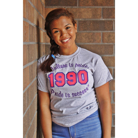 "Sigma Lambda Gamma 1990 ""Culture is pride, Pride is Success"" shirt"