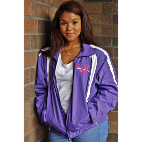 Sigma Lambda Gamma Purple Windbreaker