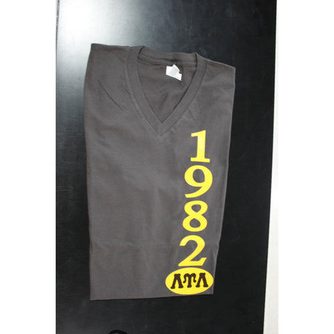 Lambda Upsilon Lambda 1982 Brown Vneck