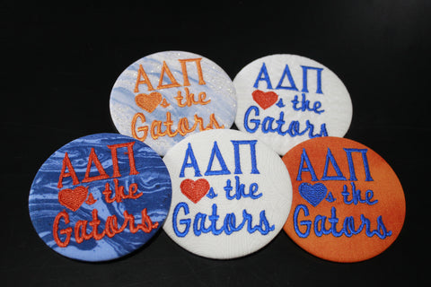 "Alpha Delta Pi ""Hearts the ___"" Game Day Buttons"