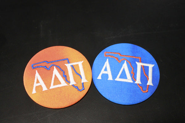 Alpha Delta Pi Florida Outline Game Day Embroidered Button