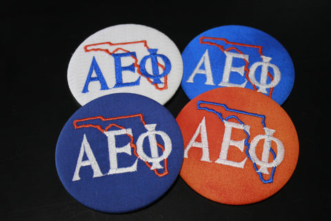Alpha Epsilon Phi Florida Outline Game Day Button