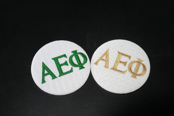 Alpha Epsilon Phi Game Day Embroidered Button