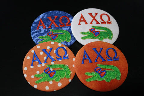 Alpha Chi Omega Gator Game Day Button