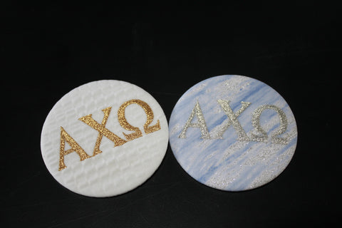 Alpha Chi Omega Game Day Button