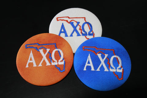 Alpha Chi Omega Florida Outline Game Day Button