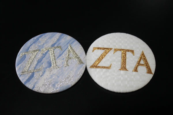 Zeta Tau Alpha Game Day Embroidered Button